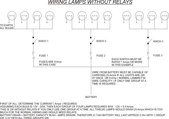 wiring extra lights lambretta automotive wiring diagram u2022 rh nfluencer co Basic Light Wiring Diagrams Light Bulb Wiring